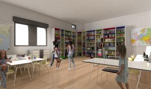 Biblio Falcone Borsellino: il render del progetto