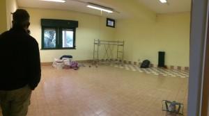 Work in progress della biblioteca: l'aula prima dei lavori